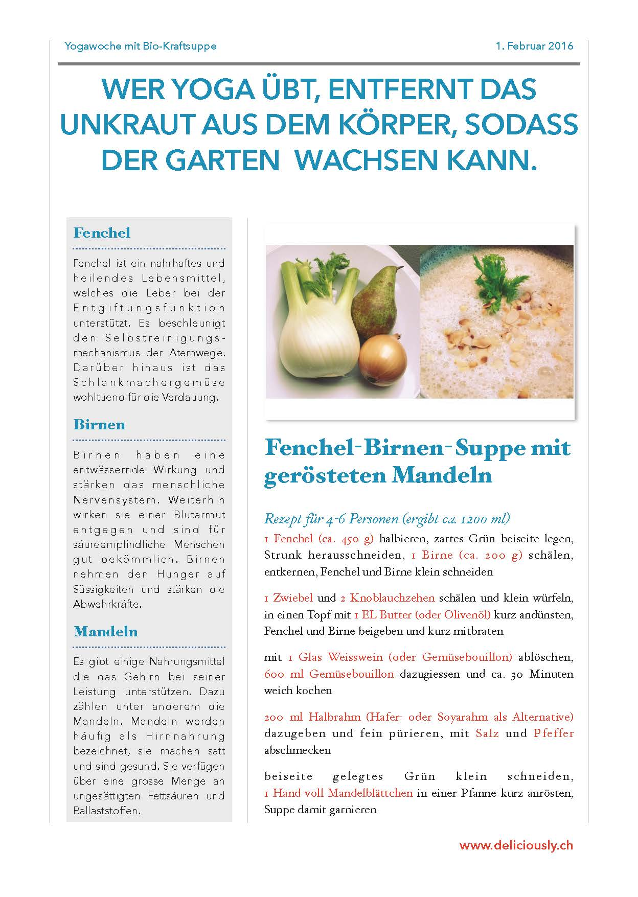 Fenchel-Birnen-Suppe