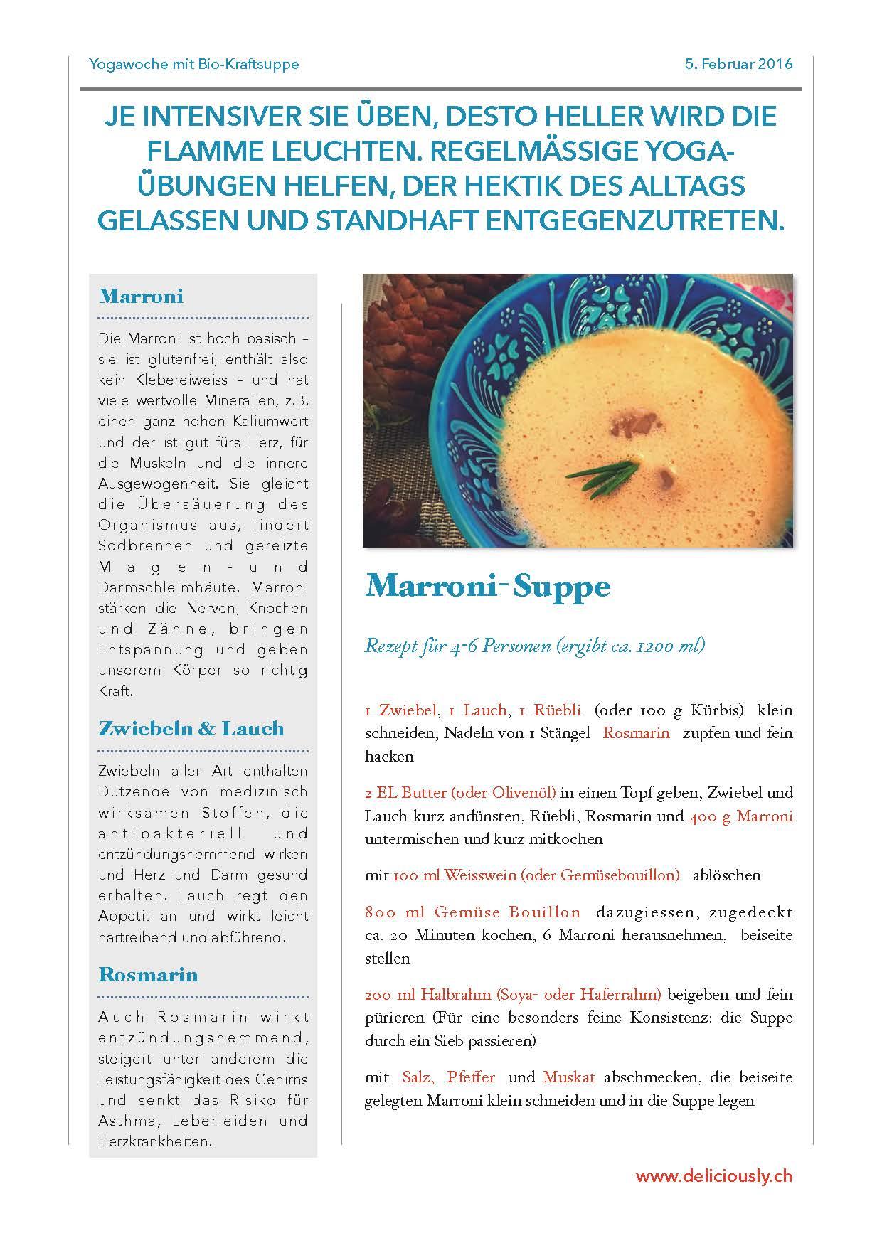Marronisuppe